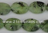 CRU208 15.5 inches 15*20mm faceted oval green rutilated quartz beads