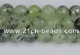 CRU801 15.5 inches 6mm faceted round prehnite gemstone beads