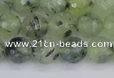 CRU803 15.5 inches 10mm faceted round prehnite gemstone beads