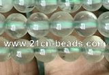 CRU811 15.5 inches 6mm round green rutilated quartz beads