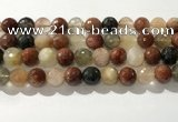 CRU915 15.5 inches 12mm faceted round mixed rutilated quartz beads