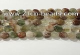 CRU920 15.5 inches 9*12mm oval mixed rutilated quartz beads wholesale