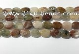 CRU922 15.5 inches 12*16mm oval mixed rutilated quartz beads wholesale