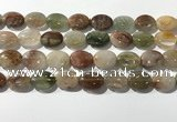 CRU923 15.5 inches 13*18mm oval mixed rutilated quartz beads wholesale