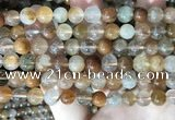 CRU945 15.5 inches 8mm round mixed rutilated quartz beads