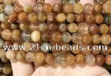 CRU948 15.5 inches 8mm round mixed rutilated quartz beads