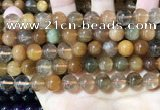 CRU949 15.5 inches 10mm round mixed rutilated quartz beads