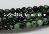 CRZ01 15.5 inches 6mm round ruby zoisite gemstone beads Wholesale