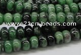 CRZ06 15.5 inches 5*8mm rondelle ruby zoisite gemstone beads Wholesale