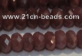 CRZ1013 15.5 inches 3*5mm faceted rondelle A- grade ruby beads