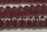 CRZ1019 15.5 inches 5*7mm faceted rondelle A grade ruby beads