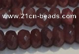 CRZ1021 15.5 inches 3*5mm faceted rondelle A+ grade ruby beads