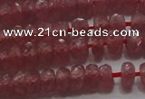 CRZ1101 15.5 inches 3*5mm faceted rondelle AAA+ grade ruby beads