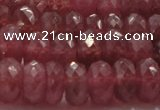 CRZ1105 15.5 inches 6*10mm faceted rondelle AAA+ grade ruby beads