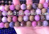 CRZ1146 15.5 inches 13mm faceted round ruby sapphire beads