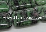 CRZ19 15.5 inches 22*30mm rectangle ruby zoisite gemstone beads