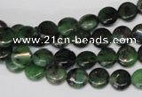 CRZ23 15.5 inches 8mm flat round ruby zoisite gemstone beads