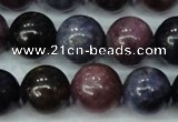 CRZ503 15.5 inches 10mm round natural ruby sapphire beads
