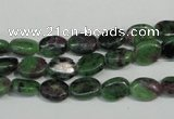 CRZ59 15.5 inches 6*8mm oval ruby zoisite gemstone beads