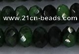 CRZ755 15.5 inches 6*10mm faceted rondelle ruby zoisite beads