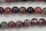 CRZ801 15.5 inches 6mm round natural ruby sapphire beads