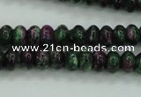 CRZ923 15.5 inches 10*14mm rondelle Chinese ruby zoisite beads