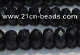 CRZ981 15.5 inches 5*7mm faceted rondelle A+ grade sapphire beads