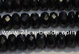 CRZ984 15.5 inches 4*6mm faceted rondelle AA grade sapphire beads