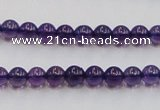 CSA03 15.5 inches 6mm round synthetic amethyst beads wholesale