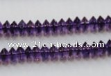 CSA07 15.5 inches 4*8mm rondelle synthetic amethyst beads wholesale