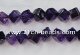 CSA10 15.5 inches 7*7mm cube synthetic amethyst beads wholesale