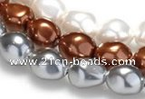 CSB03 16 inches 12*16mm nugget shell pearl beads Wholesale