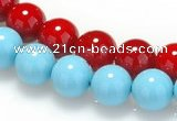 CSB07 16 inches 10mm round shell pearl beads Wholesale