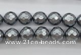 CSB1201 15.5 inches 10mm faceted round shell pearl beads