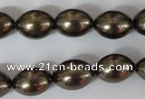 CSB123 15.5 inches 12*15mm rice shell pearl beads wholesale