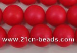 CSB1306 15.5 inches 6mm matte round shell pearl beads wholesale
