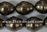 CSB133 15.5 inches 18*22mm nuggets shell pearl beads wholesale