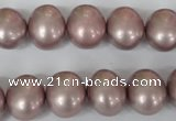CSB138 15.5 inches 12*15mm – 13*16mm oval shell pearl beads