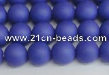CSB1412 15.5 inches 8mm matte round shell pearl beads wholesale