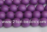 CSB1415 15.5 inches 4mm matte round shell pearl beads wholesale