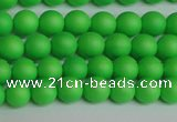 CSB1430 15.5 inches 4mm matte round shell pearl beads wholesale