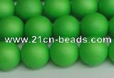 CSB1434 15.5 inches 12mm matte round shell pearl beads wholesale