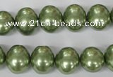 CSB145 15.5 inches 12*15mm – 13*16mm oval shell pearl beads