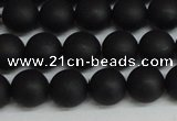 CSB1457 15.5 inches 8mm matte round shell pearl beads wholesale