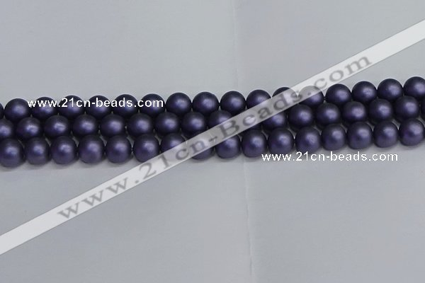 CSB1653 15.5 inches 10mm round matte shell pearl beads wholesale