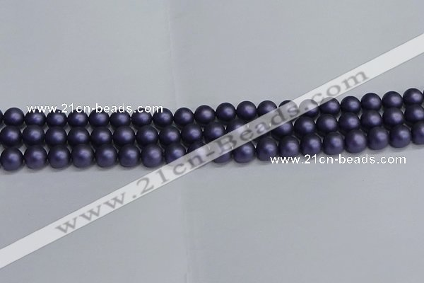 CSB1661 15.5 inches 6mm round matte shell pearl beads wholesale