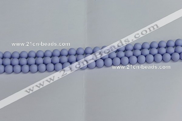 CSB1700 15.5 inches 4mm round matte shell pearl beads wholesale