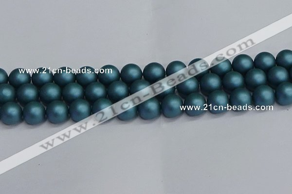 CSB1735 15.5 inches 14mm round matte shell pearl beads wholesale