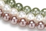 CSB19 16 inches 12mm round shell pearl beads Wholesale