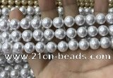 CSB2110 15.5 inches 8mm ball shell pearl beads wholesale